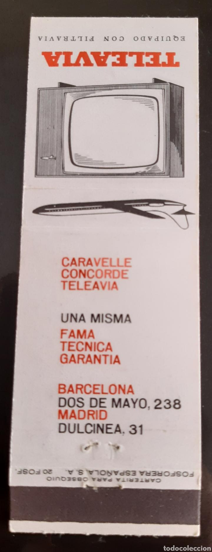 Cajas de Cerillas: CARTERITA CERILLAS - TELEAVIA - FILTRAVIA - CARAVELLE CONCORDE TELEAVIA - Foto 2 - 205304816