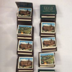 Cajas de Cerillas: LOTE DE 10 CAJETILLAS O FÓSFOROS Y CON SUS FUNDAS DE PLÁSTICO. Lote 205328246