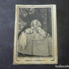 Cajas de Cerillas: VELAZQUEZ LA INFANTA MARÍA TERESA CROMO ENVUELTA CAJA DE CERILLAS SIGLO XIX. Lote 205344135