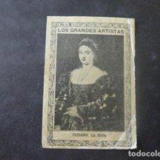Cajas de Cerillas: TIZIANO LA BELLA CROMO ENVUELTA SIGLO XIX. Lote 205357252