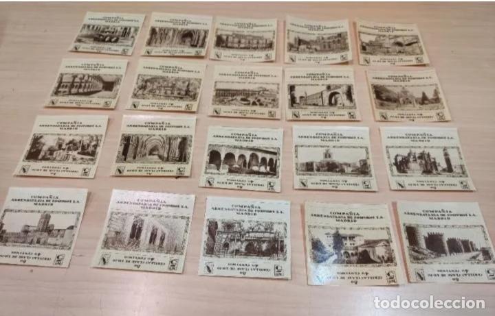 20 ETIQUETAS FÓSFOROS-CERILLAS, MONUMENTOS ESPAÑA, COMPAÑIA ARRENDATARIA FÓSFOROS S.A. (Coleccionismo - Objetos para Fumar - Cajas de Cerillas)