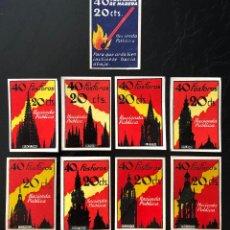 Cajas de Cerillas: VIÑETAS DE FOSFOROS ESPAÑOLES TEMA CATEDRALES. Lote 205550250