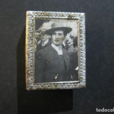 Cajas de Cerillas: FUNDA CUBRE CAJA CERILLAS METALICO DE TOREROS-ANGEL PERALTA-CREACION GONSANHI-VER FOTOS-(V-20.213). Lote 205735243