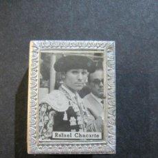 Cajas de Cerillas: FUNDA CUBRE CAJA CERILLAS METALICO DE TOREROS-CHACARTE & LIMEÑO-VER FOTOS-(V-20.214). Lote 205735417