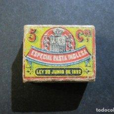 Cajas de Cerillas: CAJA DE CERILLAS-B.Y.G. JAUREGUI MADRID-ESPECIAL PASTA INGLESA-VER FOTOS-(V-20.218). Lote 205736405