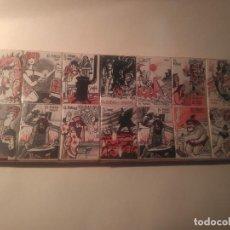 Cajas de Cerillas: FOSFOROS DEL PIRINEO / SERIE EL FUEGO COMPLETA / DIBUJOS DE MINGOTE / 14 CAJETILLAS / AÑO 1968. Lote 205794797