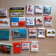 Cajas de Cerillas: 19 CAJAS DE CERILLAS - MODELOS DE COCHES VARIOS - MOTO. Lote 206462771