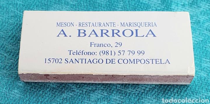 Cajas de Cerillas: ANTIGUA CAJA DE CERILLAS RESTAURANTE MARISQUERIA A.BARROLA.SANTIAGO DE COMPOSTELA.GALICIA.AÑOS 90 - Foto 2 - 206892617