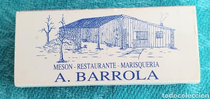 ANTIGUA CAJA DE CERILLAS RESTAURANTE MARISQUERIA A.BARROLA.SANTIAGO DE COMPOSTELA.GALICIA.AÑOS 90 (Coleccionismo - Objetos para Fumar - Cajas de Cerillas)