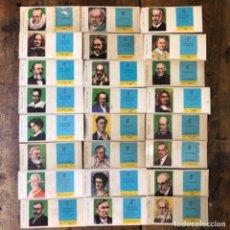 Cajas de Cerillas: FOSFORERA CANARIENSE COLECCIÓN COMPLETA DE 24 CAJAS DE CERILLAS DE HOMBRES ILUSTRES, PERSONAJES.. Lote 206923142