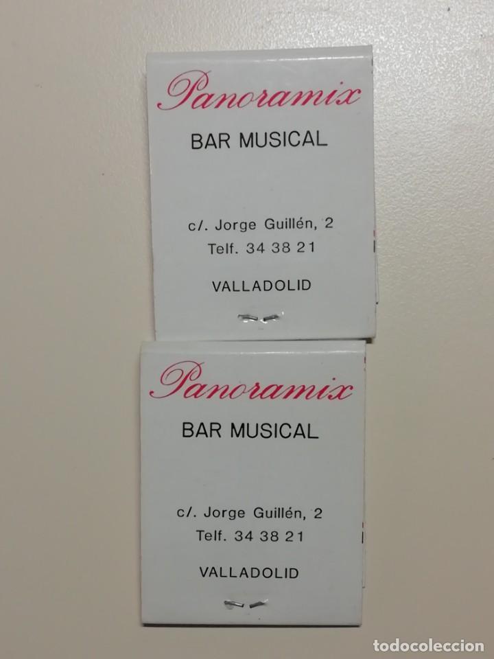 LOTE DE 2 CAJAS ANTIGUAS DE CERILLAS PUBLICITARIAS- CAFETERIA LA BIGORNIA Y PANORAMIX BAR-VALLADOLID (Coleccionismo - Objetos para Fumar - Cajas de Cerillas)