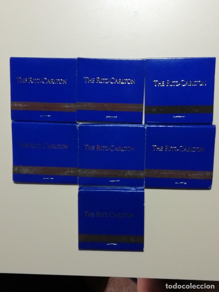 Cajas de Cerillas: LOTE DE 7 CAJAS ANTIGUAS DE CERILLAS PUBLICITARIAS- HOTEL RITZ CARLTON DE NEW YORK-AÑOS 70 - Foto 3 - 209705941