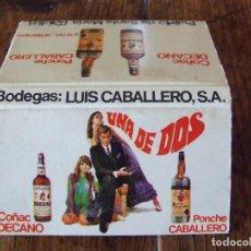 Cajas de Cerillas: BODEGAS LUIS CABALLERO UNA DE DOS CADIZ - CAJA DE CERILLAS - GENERAL FOSFORERA NUEVA. Lote 209941988