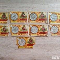 Cajas de Cerillas: LIQUIDACION LOTE 9 MONEDAS GREMIO FABRICANTES. Lote 211478615