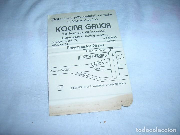 Cajas de Cerillas: Antigua carterita de cerillas con publicidad. Kocina Galicia, la boutique de la cocina. Las Rozas. - Foto 2 - 211639839