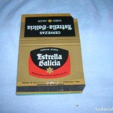 Cajas de Cerillas: ANTIGUA CARTERITA DE CERILLAS CON PUBLICIDAD. CERVEZA ESTRELLA GALICIA. ESPECIAL RIVERA.. Lote 211640791