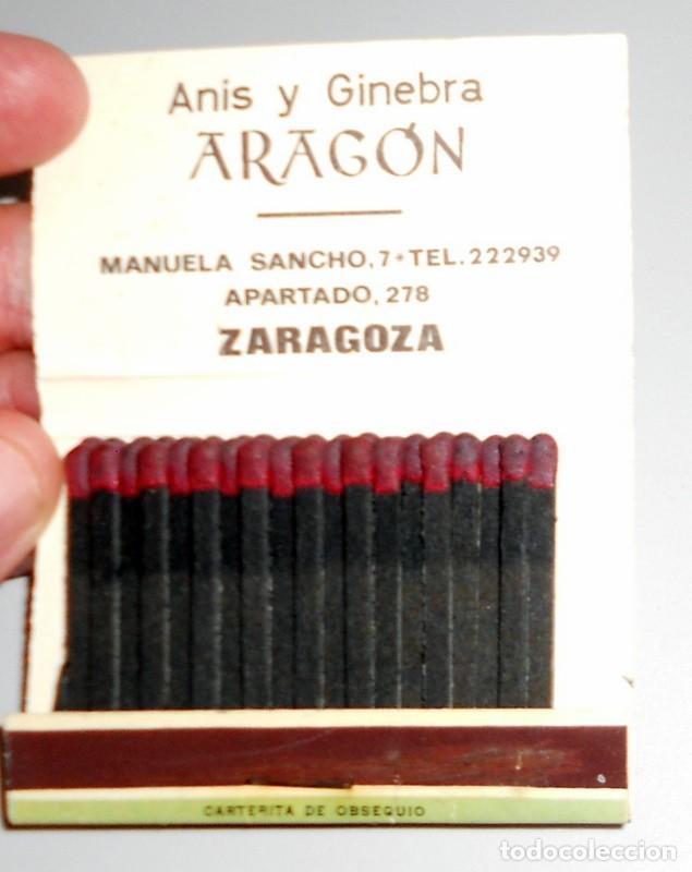 Cajas de Cerillas: ESTUCHE ENCARTE CERILLAS ANTIGUO - FÚTBOL VINTAGE - REAL ZARAGOZA LOS MAGNÍFICOS - ANÍS ARAGÓN PUBLI - Foto 3 - 211721526