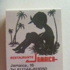 Cajas de Cerillas: CAJA DE CERILLAS PUBLICITARIA DEL RESTAURANTE JAMAICA , SEVILLA . SIN USAR. Lote 212622367