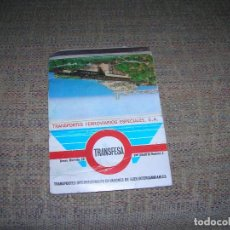 Cajas de Cerillas: ANTIGUA CARTERITA DE CERILLAS CON PUBLICIDAD. TRANSFESA. TRANSPORTES FERROVIARIOS ESPECIALES, S. A.. Lote 213718426
