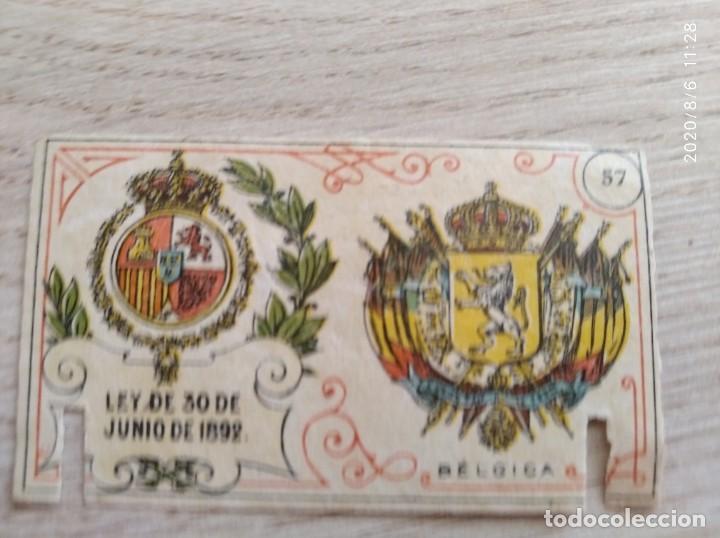 PORTADA INTERIOR DEL GREMIO DE FABRICANTES FOSFOROS 1.900-ESCUDO 57 BELGICA SERIE B (Coleccionismo - Objetos para Fumar - Cajas de Cerillas)