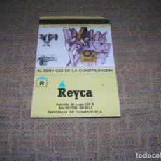 Cajas de Cerillas: CARTERITA DE CERILLAS PUBLICIDAD. REYCA, AL SERVICIO DE LA CONSTRUCCIÓN. SANTIAGO DE COMPOSTELA.. Lote 213884476
