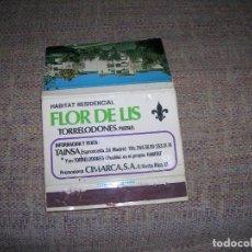 Cajas de Cerillas: CARTERITA CERILLAS PUBLICIDAD. HABITAT RESIDENCIAL FLOR DE LIS. TORRELODONES, PUEBLO. TAINSA CIMARCA. Lote 213886370