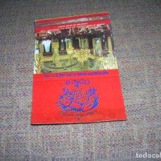 Cajas de Cerillas: ANTIGUA CARTERITA CERILLAS PUBLICIDAD. BINGO CÍRCULO MALLORQUÍN. GENERAL GODED, 16 PALMA DE MALLORCA. Lote 213887982