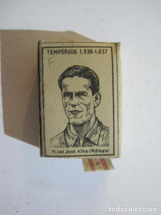 Cajas de Cerillas: CAJA DE CERILLAS DE FUTBOL-JOSE ALBA-MALAGA-TEMPORADA 1936 1937-GUERRA CIVIL-VER FOTOS-(V-21.780) - Foto 3 - 214853466