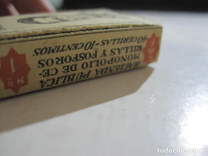 Cajas de Cerillas: CAJA DE CERILLAS DE FUTBOL-JOSE ALBA-MALAGA-TEMPORADA 1936 1937-GUERRA CIVIL-VER FOTOS-(V-21.780) - Foto 7 - 214853466