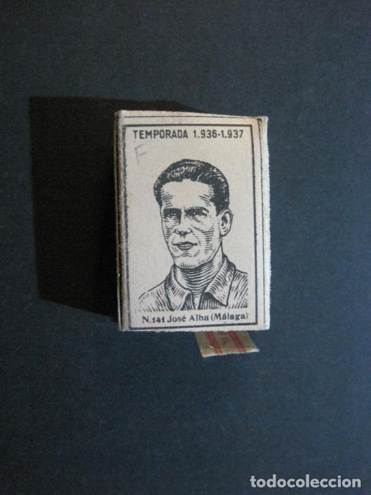 CAJA DE CERILLAS DE FUTBOL-JOSE ALBA-MALAGA-TEMPORADA 1936 1937-GUERRA CIVIL-VER FOTOS-(V-21.780) (Coleccionismo - Objetos para Fumar - Cajas de Cerillas)