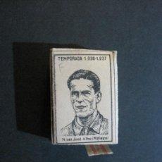 Cajas de Cerillas: CAJA DE CERILLAS DE FUTBOL-JOSE ALBA-MALAGA-TEMPORADA 1936 1937-GUERRA CIVIL-VER FOTOS-(V-21.780). Lote 214853466
