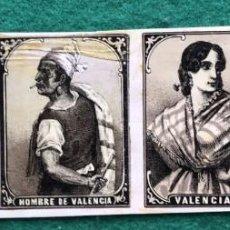 Scatole di Cerini: CERILLAS, CROMOS S. XIX. TIPOS DE VALENCIA. Lote 217140825