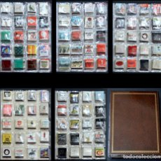 Cajas de Cerillas: LOTE COLECCION DE 100 CAJAS DE CERILLAS DISTINTAS PUBLICIDAD AÑOS 80 EN ALBUM Y 5 HOJAS. Lote 217694067