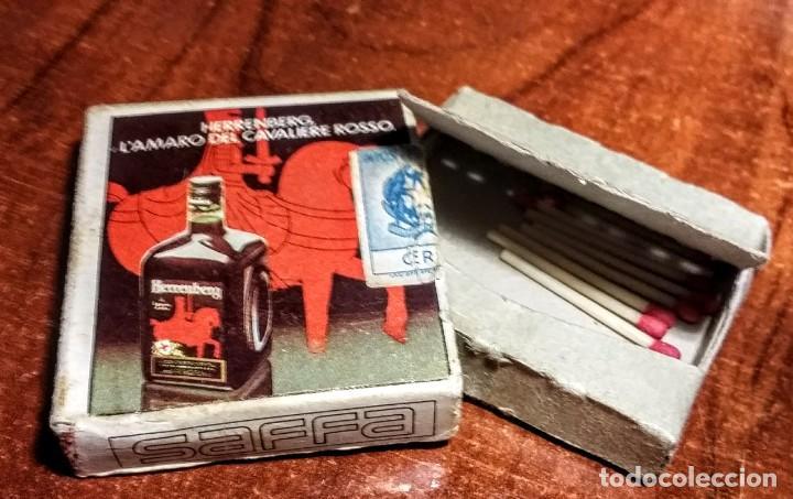 ANTIGUA CAJA DE CERILLAS L'AMARO DEL CAVALIERE ROSSO. NAPOLES ITALIA (Coleccionismo - Objetos para Fumar - Cajas de Cerillas)