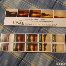 Cajas de Cerillas: ESTUCHE 10 CAJAS CERILLAS FARMACIA VISAL. Lote 218301367