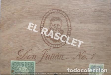 CAJA VACIA TABACO DON JULIAN Nº 1 NUMERADA (Coleccionismo - Objetos para Fumar - Cajas de Cerillas)