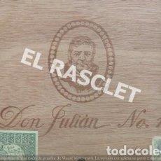 Cajas de Cerillas: CAJA VACIA TABACO DON JULIAN Nº 1 NUMERADA. Lote 218312826