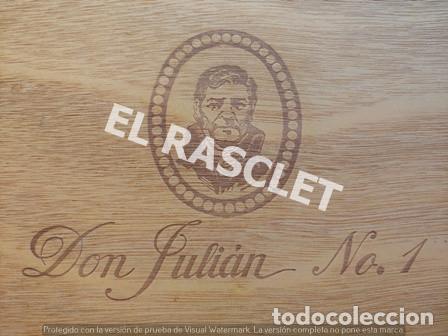 Cajas de Cerillas: CAJA VACIA TABACO DON JULIAN Nº 1 NUMERADA - Foto 8 - 218312826