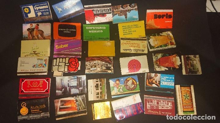 LOTE DE 31 CAJAS DE CERILLAS DE PROPAGANDA ALGUNAS PUEDEN ESTAR VACIAS , LEER DESCRIPCION (Coleccionismo - Objetos para Fumar - Cajas de Cerillas)