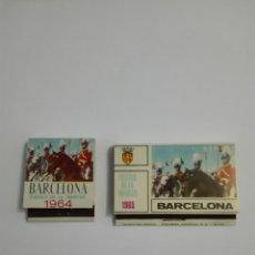 Cajas de Cerillas: 2 CARTERITAS CERILLAS - FIESTAS DE LA MERCED / BARCELONA 1964-1965 - COMPLETAS. Lote 218501193