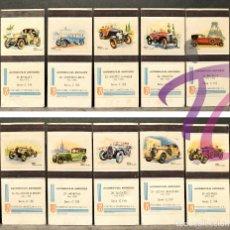 Cajas de Cerillas: COLECCIÓN COMPLETA AUTOMÓVILES DE ÉPOCA FOSFORERA VENEZOLANA 30 CAJAS CERILLAS NUEVAS SIN USO. Lote 220505963