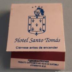 Cajas de Cerillas: CAJA DE CERILLAS GUATEMALA - HOTEL SANTO TOMÁS CHICHICASTENANGO. Lote 221337373