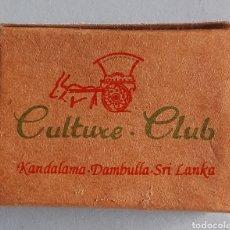 Cajas de Cerillas: CAJA DE CERILLAS DE SRI LANKA - CULTURE CLUB. Lote 221475648