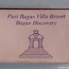 Cajas de Cerillas: CAJA DE CERILLAS DE BALI - PURI BAGUS VILLA RESORT. Lote 221476177