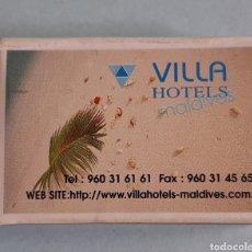 Cajas de Cerillas: CAJA DE CERILLAS DE MALDIVAS - VILLA HOTELS. Lote 221476885