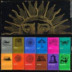 Cajas de Cerillas: CALENDARIO 1969 - CAJA CONTENIENDO 12 CAJITAS DE CERILLAS - VER FOTOS. Lote 221929287