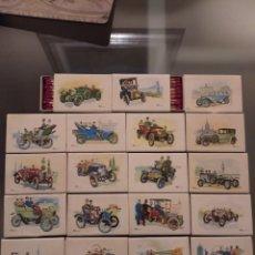 Cajas de Cerillas: LOTE DE 19 CAJAS DE CERILLAS COCHES DE ÉPOCA, SIN USAR. Lote 221958548