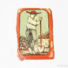 Cajas de Cerillas: CROMO DE CAJA DE CERILLAS DE FINALES DEL SIGLO XIX - HORTELANO DE LA MARTINICA. Lote 222624905