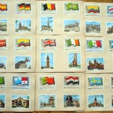 Cajas de Cerillas: BANDERAS DE PAISES CERILLAS .FOSFORERA ESPAÑOLA. AÑOS 60 .COLECCIÓN COMPLETA. Lote 222798262