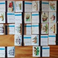 Caixas de Fósforos: 24 CAJAS DE CERILLAS SERIE BARCOS - FOSFORERA ESPAÑOLA, AÑOS 60. Lote 223076031